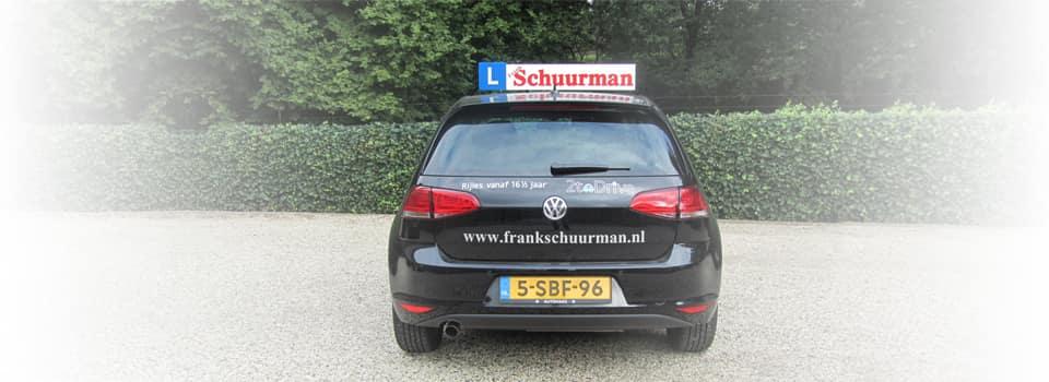 Alles lesauto's van Rijschool Frank Schuurman zijn van Volkswagen